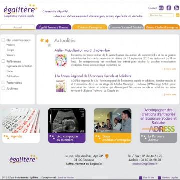 site web de la scop egalitère